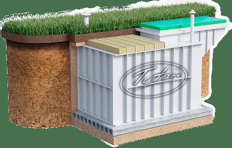 Купить погреб из пластика Титан с боковым входом от производителя
